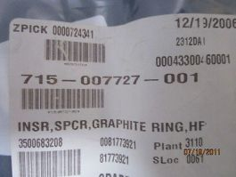 LAM RESEARCH 715-007727-001 INSR  Spacer Graphite Ring HP