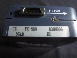 AERA FC-980 MASS FLOW CONTROLLER, GAS H2, RANGE 5 SLM
