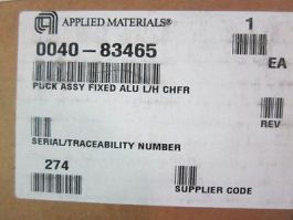 AMAT 0040-83465 Puck Assembly Fixed ALU L/H CHFR