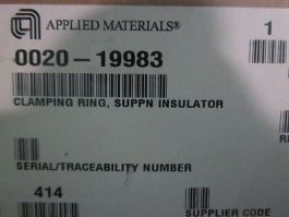 AMAT 0020-19983 Clamping Ring, Suppn Insulator