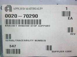 Applied Materials (AMAT) 0020-70290 Bracket Window Stop Support
