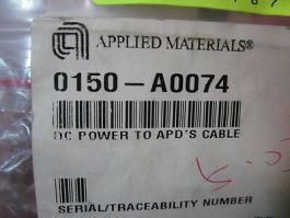 Applied Materials (AMAT) 0150-A0074 DC Power to APD'S Cable