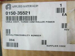 Applied Materials (AMAT) 0150-35521 Cable Assembly, Turbo Controller Power