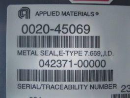 AMAT 0020-45069 SEAL, METAL, E-TYPE, 7.669 ID