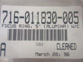 """LAM RESEARCH (LAM) 716-011830-005 Focus Ring 5\"""" (Alumina) W/C"""