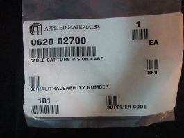 AMAT 0620-02700 CABLE CAPTURE VISION CARD; VIDEO IN, POWER