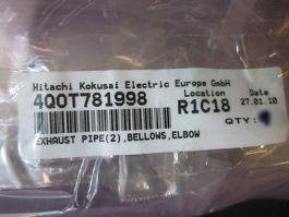 Hitachi-Kokusai 4QOT781998 Kokusai Electric 4QOT781998, Exhaust Pipe, Bellows, E