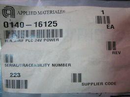 Applied Materials (AMAT) 0140-16125 H/A,SMIF PLC 24V POWER