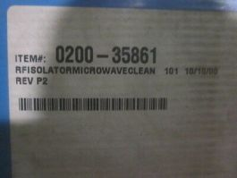 Applied Materials (AMAT) 0200-35861 RF Isolator, Mircowave Clean