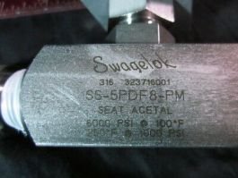 Swagelok SS-5PDF8-PM Needle Valve, Acetal Seat, 1/2 in. FNPT, SS