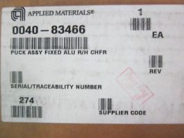 Applied Materials (AMAT) 0040-83466 Puck Assembly Fixed ALU R/H CHFR