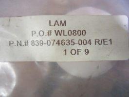 LAM RESEARCH (LAM) 839-074635-004 Weldment Connector Rev. E1