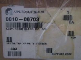 AMAT 0010-08703 Assembly, Robot Blade, MF,  ECP