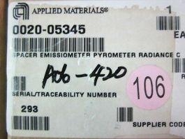 Applied Materials (AMAT) 0020-05345 Spacer EMISSIOMETER Pyrometer Radiance C
