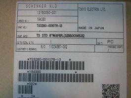 TEL TS3280-001078-13 TS STD 8'' WAFER 329500145312