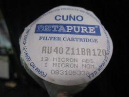 CUNO AU40Z11BA120 CUNO BETAPURE FILTER CARTRIDGE; 12-MICRON ABS, 1 MICRON NOM
