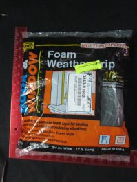 Applied Materials AMAT 3840-01040 Multi-Purpose Foam Weather Stripping 12 Thick 34 Wide 17 Long